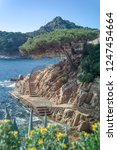 rocky coast of spain catalonia | Shutterstock . vector #1247454664