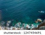 rocky coast of spain catalonia | Shutterstock . vector #1247454691