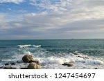 rocky coast of spain catalonia | Shutterstock . vector #1247454697