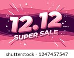 12.12 shopping day super sale... | Shutterstock .eps vector #1247457547