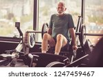exercises suit me. senior man... | Shutterstock . vector #1247459467