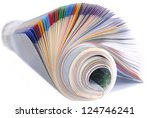 rolled magazine isolated | Shutterstock . vector #124746241