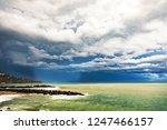 thunderstorm weather over the...   Shutterstock . vector #1247466157
