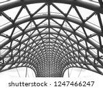vault construction of metal... | Shutterstock . vector #1247466247