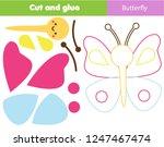 children educational game. cut...   Shutterstock .eps vector #1247467474