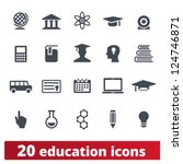 education icons  vector set of... | Shutterstock .eps vector #124746871