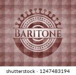 baritone red emblem or badge... | Shutterstock .eps vector #1247483194