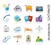 travel and vacation icons  ... | Shutterstock .eps vector #124748635