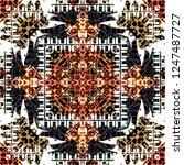 seamless pattern handkerchief... | Shutterstock . vector #1247487727