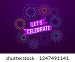 celebration firework poster... | Shutterstock .eps vector #1247491141