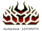 blazing fire decals for the... | Shutterstock .eps vector #1247494774