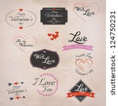 collection of valentine's... | Shutterstock .eps vector #124750231