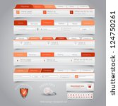 web design navigation set.... | Shutterstock .eps vector #124750261