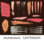 paint lines grunge collection.... | Shutterstock .eps vector #1247506324
