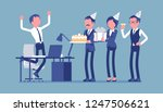 birthday party in the office.... | Shutterstock .eps vector #1247506621