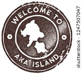 aka island map vintage stamp.... | Shutterstock .eps vector #1247507047