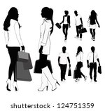 isolated silhouettes of people... | Shutterstock .eps vector #124751359