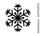 snowflake icon. beautiful six... | Shutterstock .eps vector #1247516971