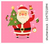 christmas card with santa claus ... | Shutterstock .eps vector #1247521894