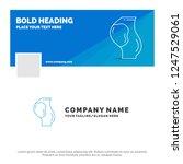 blue business logo template for ... | Shutterstock .eps vector #1247529061