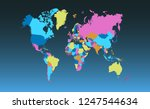 color world map vector | Shutterstock .eps vector #1247544634