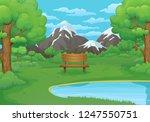 summer  spring day vector... | Shutterstock .eps vector #1247550751