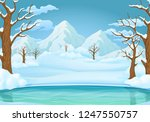 winter day vector illustration. ... | Shutterstock .eps vector #1247550757