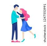 vector people character.... | Shutterstock .eps vector #1247553991