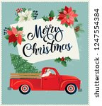 merry christmas and happy new... | Shutterstock .eps vector #1247554384