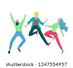 jumping character in various... | Shutterstock .eps vector #1247554957