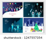set of landing page or greeting ... | Shutterstock .eps vector #1247557354