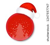 christmas sale tag with santa... | Shutterstock .eps vector #1247557747