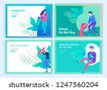 set of landing page templates... | Shutterstock .eps vector #1247560204
