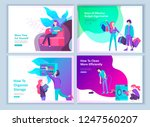 set of landing page template... | Shutterstock .eps vector #1247560207