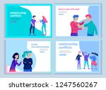 set of landing page templates... | Shutterstock .eps vector #1247560267