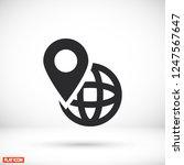 map icon. vector  eps 10  | Shutterstock .eps vector #1247567647