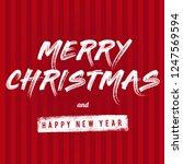 merry christmas vector text... | Shutterstock .eps vector #1247569594