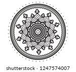 circular pattern in form of... | Shutterstock .eps vector #1247574007