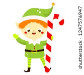 christmas elf. cute santa's...   Shutterstock .eps vector #1247576947