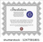 grey retro invitation template. ... | Shutterstock .eps vector #1247581801