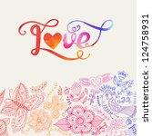 """""""love"""" Vector Watercolor..."""