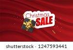 christmas sale promotional... | Shutterstock .eps vector #1247593441
