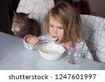 funny shaggy girl is having...   Shutterstock . vector #1247601997