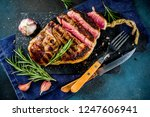 sliced grilled roast beef with... | Shutterstock . vector #1247606941