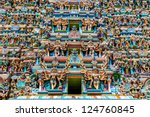 colorful hindu temple ... | Shutterstock . vector #124760845