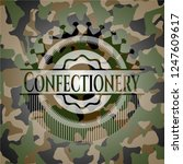 confectionery camouflaged emblem | Shutterstock .eps vector #1247609617