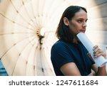 young art director standing in... | Shutterstock . vector #1247611684