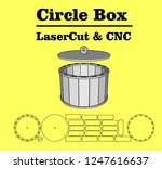 laser cutting circle box.... | Shutterstock .eps vector #1247616637
