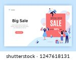 sale banner  up to 50    vector ... | Shutterstock .eps vector #1247618131