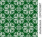 winter sweater fairisle design. ... | Shutterstock .eps vector #1247623687
